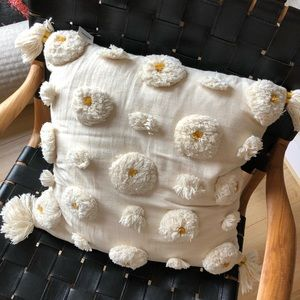 Anthropologie flower pillow